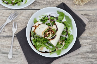 Vegetarisch Kochen: Caprese-Wraps