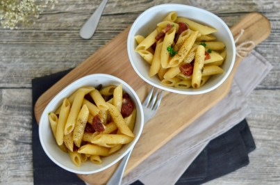 Pasta Wednesday: Penne mit Salsiccia in Balsamicosud