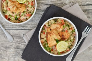 Happy Food: Couscous-Salat mit orientalischer Putenbrust