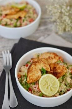 Happy Food: Couscous-Salat mit orientalischer Putenbrust