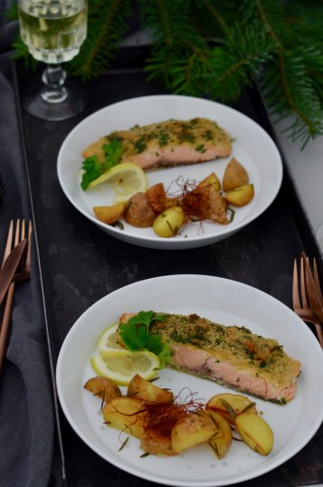 Advent, Advent: Lachs in Kräuterkruste