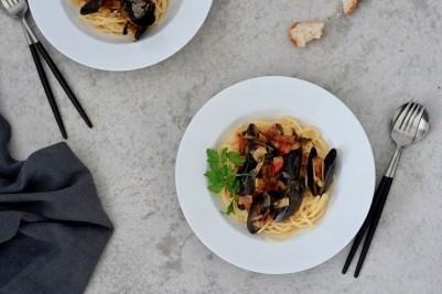 Spaghetti alle Cozze (Spaghetti mit Miesmuscheln)