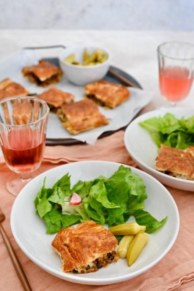 Prep&Cook Weekend Kitchen #16: Börek aus Blätterteig mit Spinat-Hackfleisch-Füllung