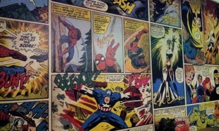 The comics wall at the corner