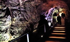 The shaft through the Castle Hill of Graz where the Dom im berg venue is located in