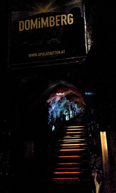 The entry to the Dom im Berg venue within the castle hill of Graz