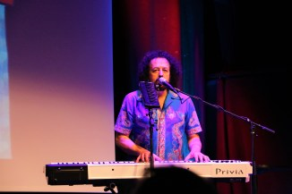 Elias Meiri, the husband of Timna Brauer performing at the keyboard