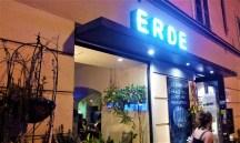 The facade of the Café Erde