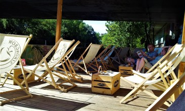 The many comfy beach chairs