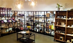 The shop area