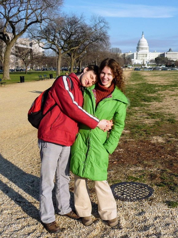 Newlyweds, shortly after our arrival in the USA. Washington DC