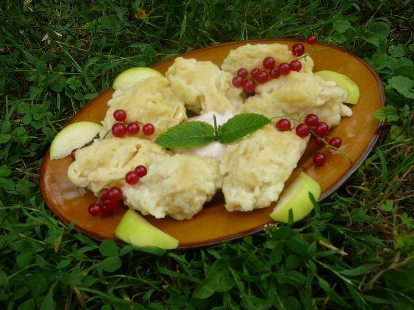 kluski z jabłkami 1