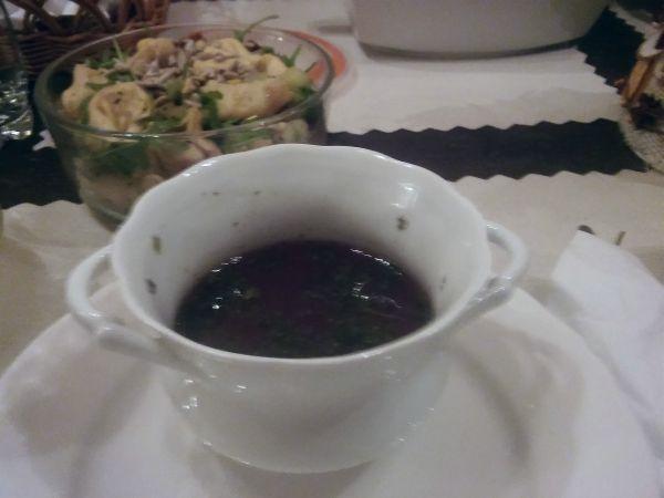 wigilia barszcz sałatka