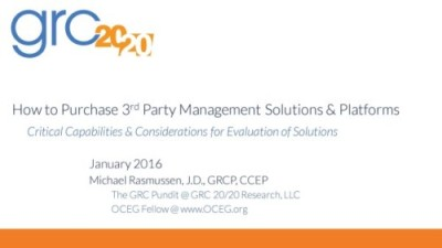 2016 How to Purchase 3rd Party Management Solutions cover