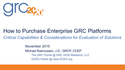 2015-11 How to Purchase Enterprise GRC Platforms