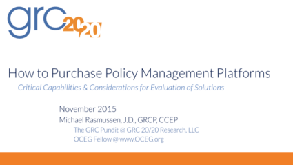 2015-11 How to Purchase Policy Management Platforms