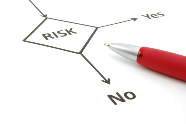 planning the business risk with flowchart at work