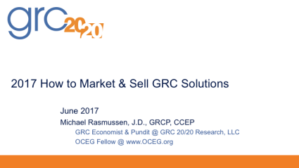 2017-06 2017 How to Market & Sell GRC Solutions