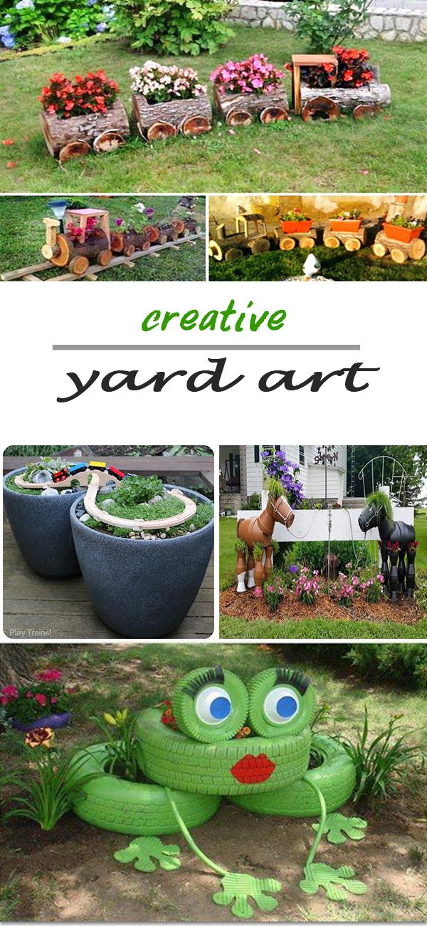 Garden Ideas 2. SOURCEDIY Yard Art ...