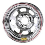 Bassett 15 x 8 x 3 IMCA-Legal Chrome Wheel 5 on 5