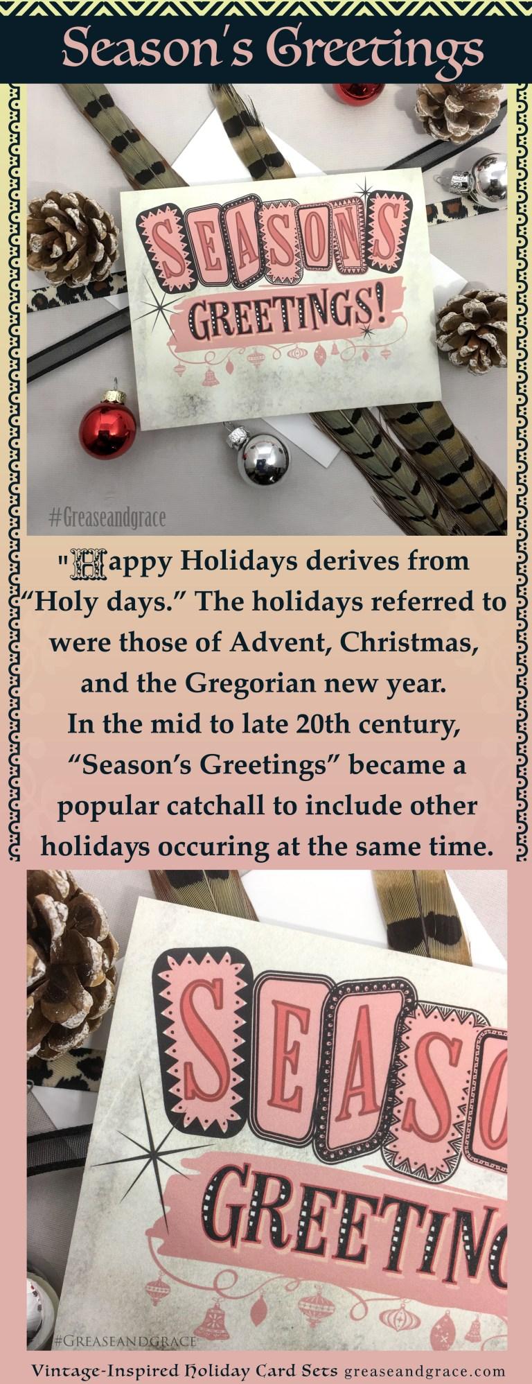 seasons greetings christmas non denominational holiday card