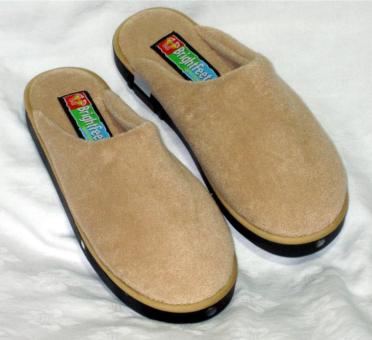 house slippers from brightfeet are lighted slippers - unisex men's