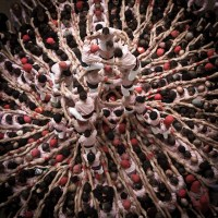 """The human towers """"castells""""  in Catalonia, Spain"""