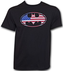 American Flag Batman Logo t-shirt