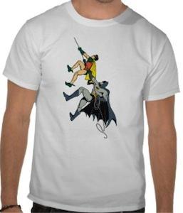 Batman And Robing Climbing Up t-shirt