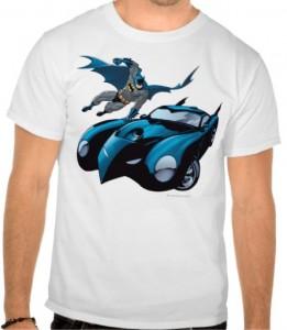 Batman Batmobile Hood Slide T-Shirt