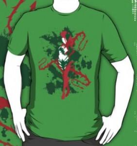 Poison Ivy Splatter T-Shirt