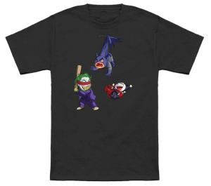 Joker And Harley Quinn With Batman Pinata T-Shirt