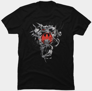 Batman And The Red Logo T-Shirt