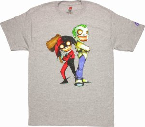 Harley Quinn And Joker Evil Cartoon T-Shirt