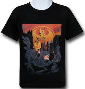 Batman Dark Knight Scene Kids T-Shirt