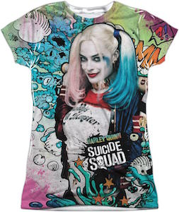 Harley Quinn Suicide Squad Psychedelic T-Shirt