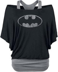 Two Tone Women's Batman Logo Top