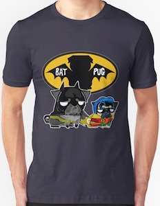 Bat Pug And Robin Pug T-Shirt