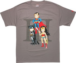 Batman, Wonder Woman, And Superman On One T-Shirt