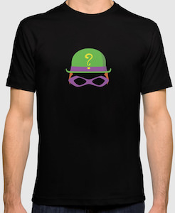 The Riddler Hat And Eye Mask T-Shirt
