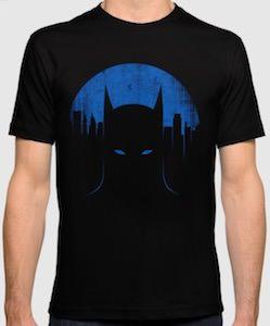 Dark Batman And Skyline T-Shirt