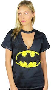 Batman Logo Choker Neck T-Shirt