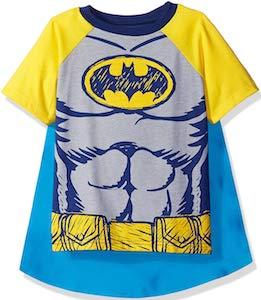 Kids Batman Costume T-Shirt With Cape