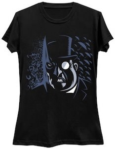 Batman And Penguin Head T-Shirt