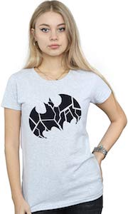 Cracked Batman Logo T-Shirt