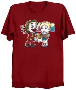 Joker Giving Harley Quinn A Puppy T-Shirt