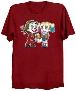 Joker Giving Harley Quinn A Puppy T-Shirt