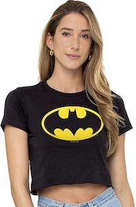 Women's Batman Logo Crop Top