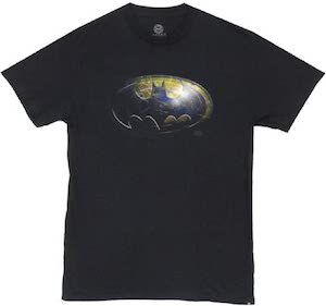 Metallic Batman Logo T-Shirt