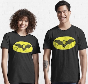 Real Bat Batman Logo T-Shirt